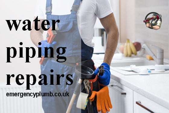 plumbing and water piping repairs