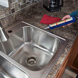 How to install a kitchen sink?