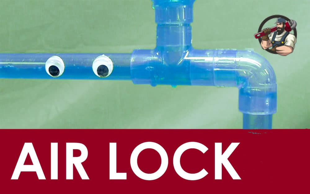 Cleaning method to solve the problem of airlock from hot water pipes