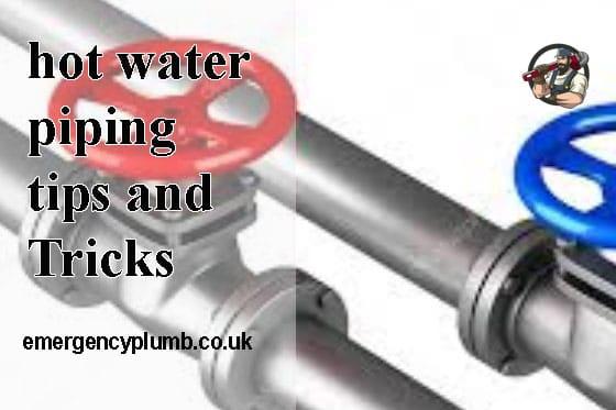Hot water piping,cold water piping