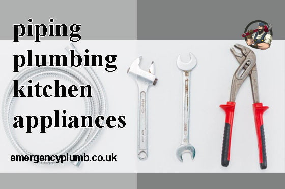 piping and plumbing kitchen appliances