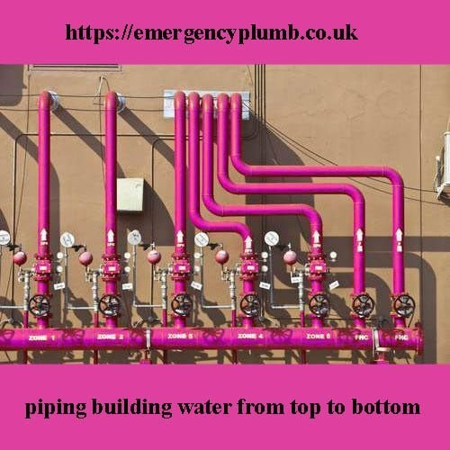 2- How is the water piping inside the building done in the building water piping method from top to bottom?